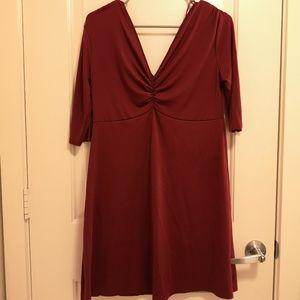 ZARA MAROON BURGUNDY LARGE DRESS